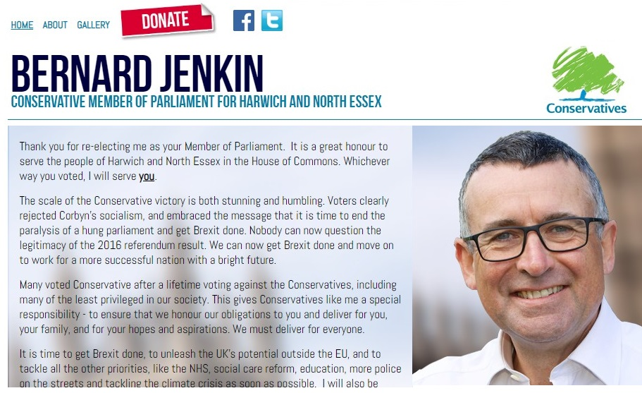 Bernard Jenkin Website